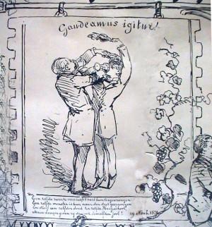 twee broers Van Basten Batenburg, als student in Utrecht, 1886