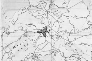 kaart Winterswijk 1809 Drossaers